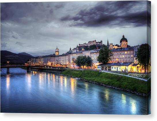 Salzburg Sunset Canvas Print
