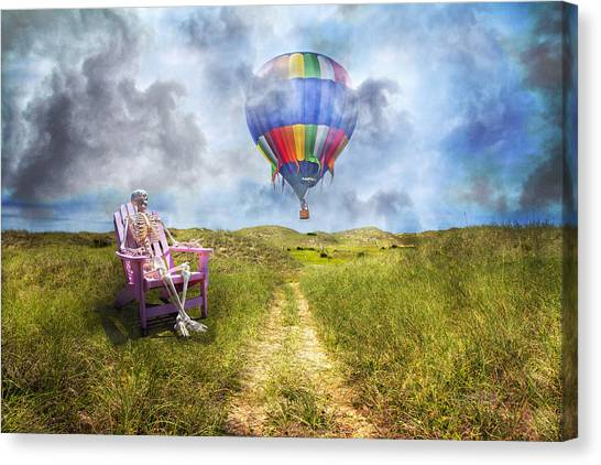 Seagrass Canvas Print - Sam Contemplates Ballooning by Betsy Knapp