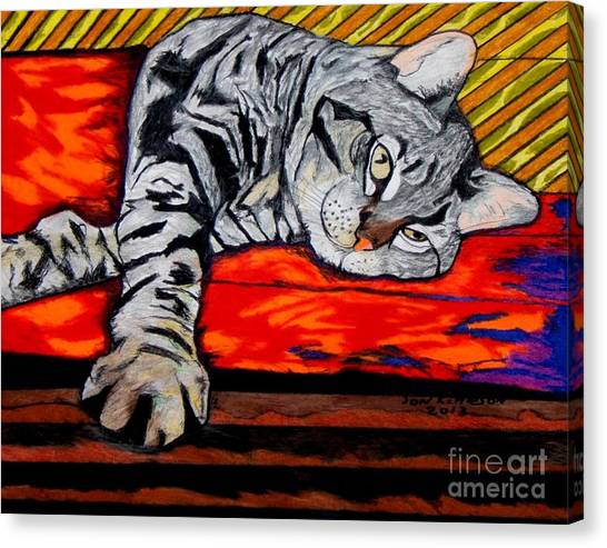 Sam The Cat Canvas Print
