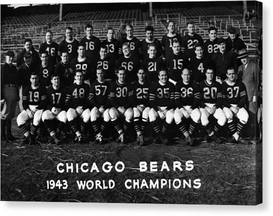 Braces Canvas Print - Chicago Bears 1943 by Retro Images Archive