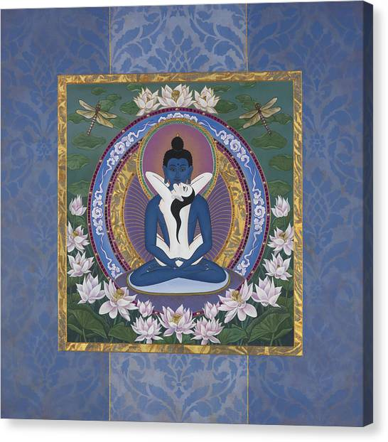 Tantra Canvas Print - Samantabadhra In The Beginning by Nadean OBrien