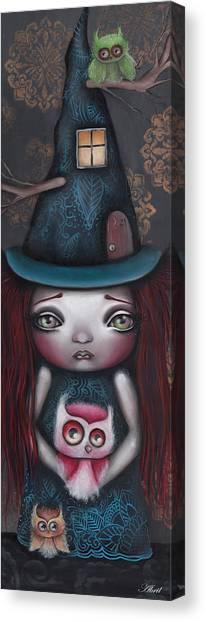 Big Eye Art Canvas Print - Samantha by Abril Andrade Griffith