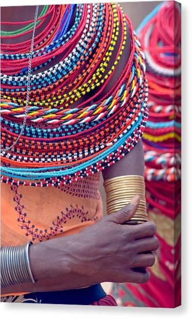 Beadwork Canvas Print - Samburu Tribal Beadwork by Panoramic Images