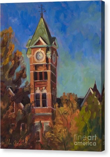Auburn University Canvas Print - Samford Hall by John Albrecht