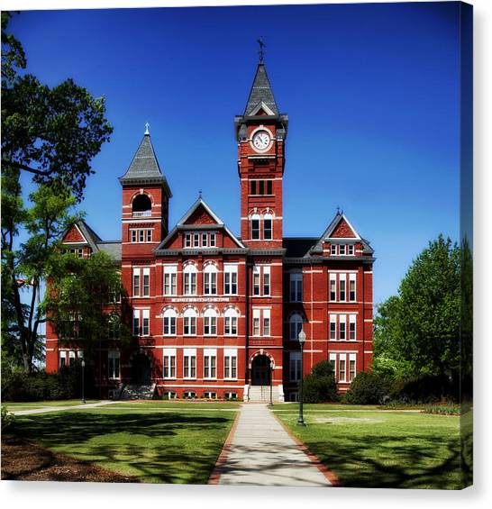 Auburn University Canvas Print - Samford Hall On The Campus Of Auburn University by Mountain Dreams