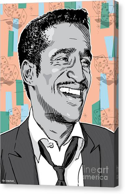 Retro Canvas Print - Sammy Davis Jr Pop Art by Jim Zahniser