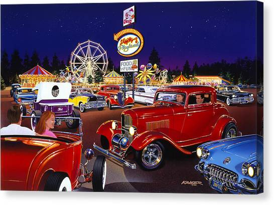 1932 Ford Canvas Print - Sammy's Playland by Bruce Kaiser