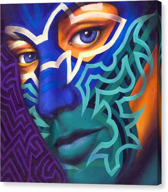 Tribal Canvas Print - Samnation10-04 by Sam Jennings