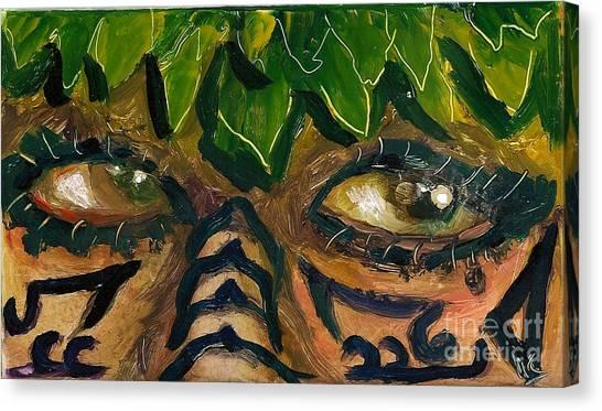 Samoan Eyes Canvas Print