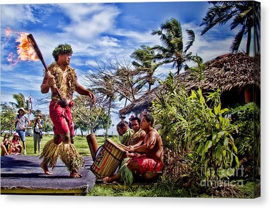 Demo Canvas Print - Samoan Torch Bearer by David Smith