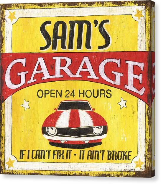 Muscles Canvas Print - Sam's Garage by Debbie DeWitt