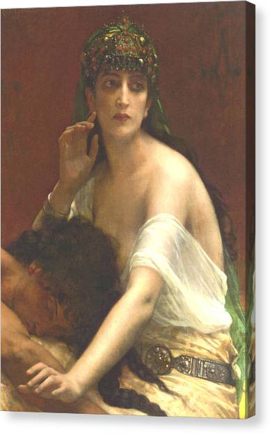 00417fa851bb Alexandre Cabanel Canvas Print - Samson And Deilah by Alexandre Cabanel
