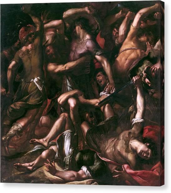 Procaccini Canvas Print - Samson And The Philistines by Giulio Cesare Procaccini