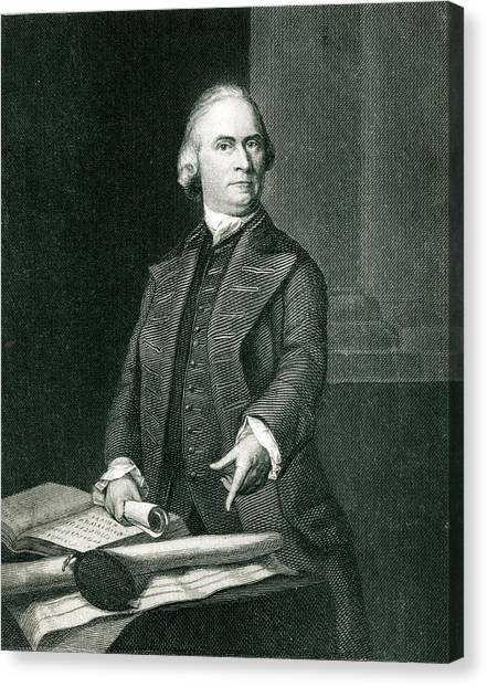 Samuel Adams  American Revolutionary Canvas Print by Mary Evans Picture Library