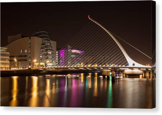 Samuel Beckett Bridge In Dublin City Canvas Print