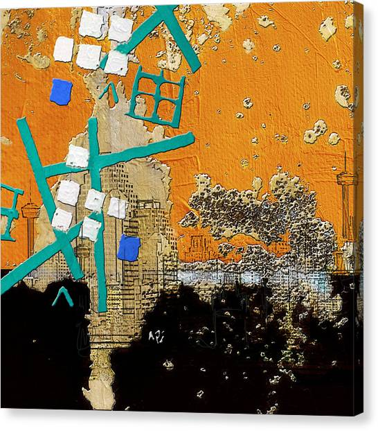 University Of Nevada - Reno Canvas Print - San Antonio 01 A by Corporate Art Task Force