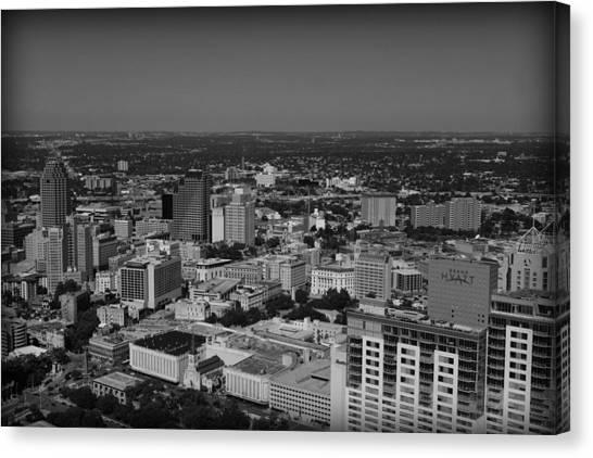 San Antonio - Bw Canvas Print