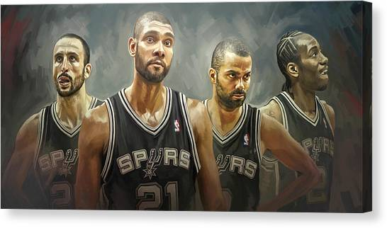 San Antonio Spurs Artwork Canvas Print