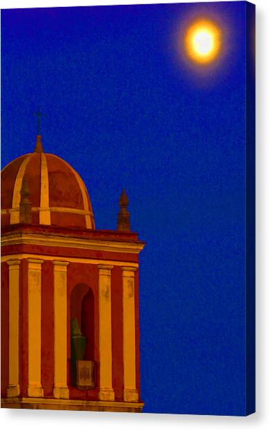 San Bartolome Moonlight Canvas Print by Robin Graham