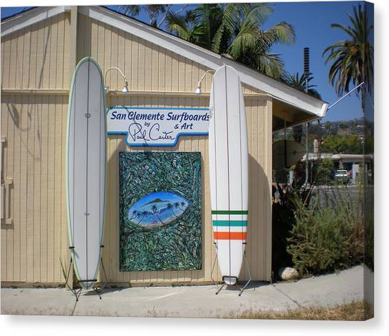 San Clemente Surfboards Canvas Print