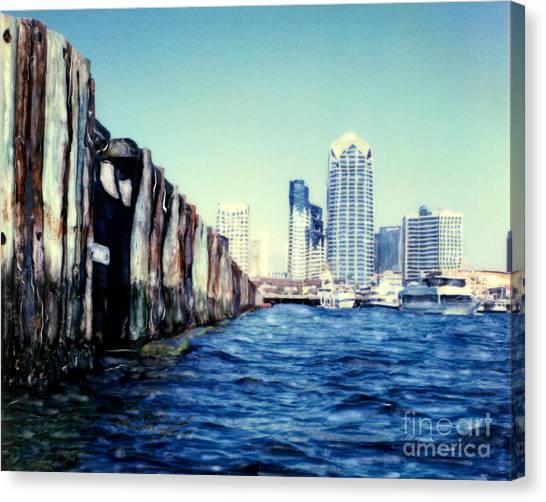 San Diego Broadway Pier Canvas Print