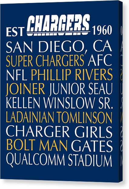 San Diego Chargers Canvas Print