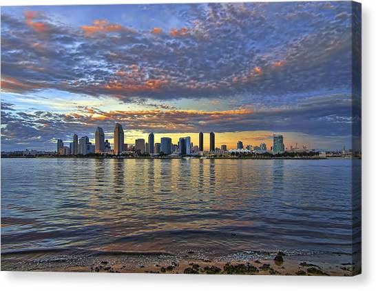 San Diego Colorful Clouds Canvas Print
