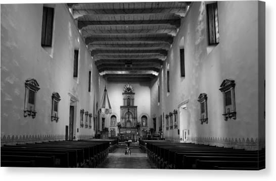 Mission San Diego Canvas Print - Sanctuary - San Diego De Alcala by Stephen Stookey