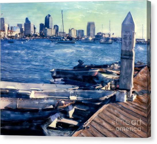 San Diego Docks Canvas Print