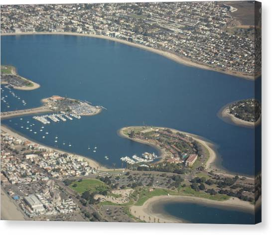San Diego From Above Canvas Print