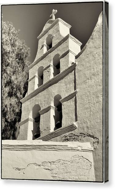 San Diego Mission Canvas Print by Jeanne Hoadley