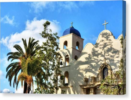 Mission San Diego Canvas Print - Old Town San Diego Shadows 3 by Mel Steinhauer
