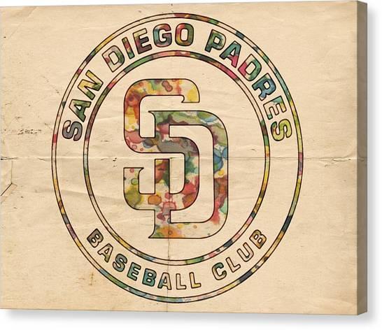 San Diego Padres Canvas Print - San Diego Padres Logo Art by Florian Rodarte