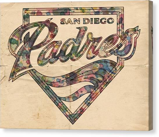 San Diego Padres Canvas Print - San Diego Padres Poster Vintage by Florian Rodarte