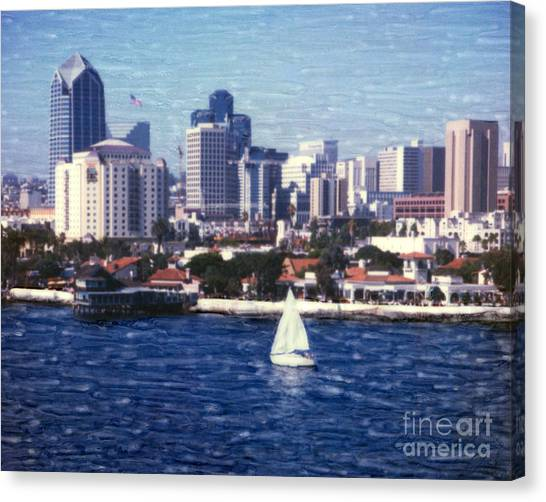 San Diego Seaport Village Canvas Print
