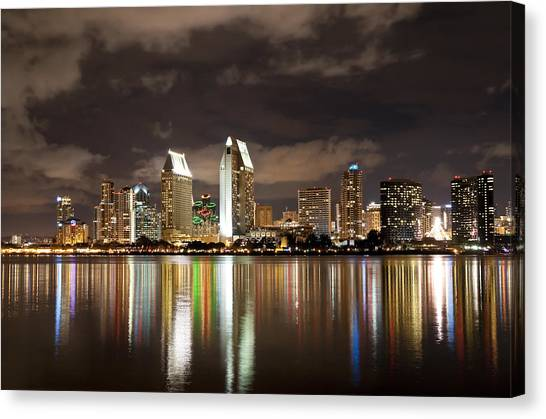 San Diego Skyline 1 Canvas Print
