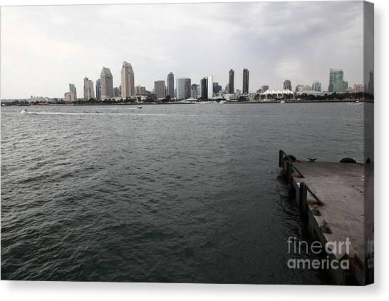 San Diego Skyline 5d24337 Canvas Print by Wingsdomain Art and Photography