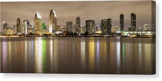 San Diego Skyline Panoramic 2 Canvas Print