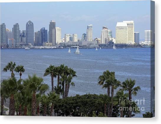 San Diego Skyline Canvas Print by Sophie Vigneault