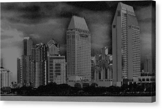 San Diego Storm Canvas Print