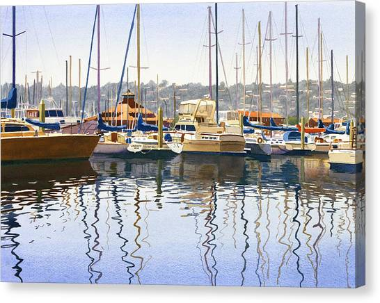 Clubs Canvas Print - San Diego Yacht Club by Mary Helmreich