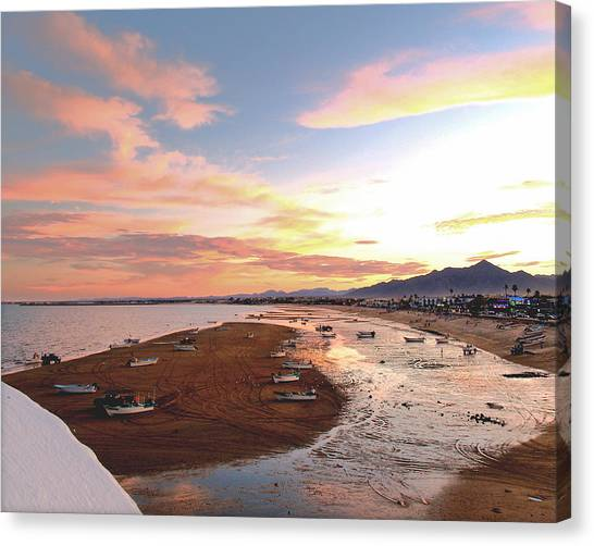 San Felipe Sunset 04 Canvas Print