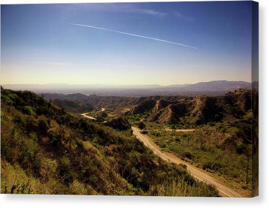 Big West Canvas Print - San Fernando Valley Of Los Angeles by Pastorscott