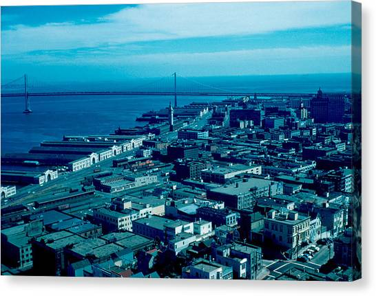 San Francisco 10 1955 Canvas Print by Cumberland Warden