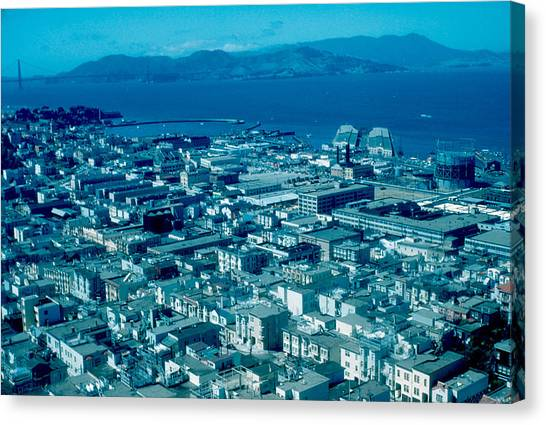 San Francisco 14 1955 Canvas Print by Cumberland Warden