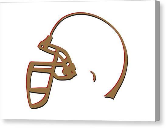 San Francisco 49ers Canvas Print - San Francisco 49ers Helmet by Joe Hamilton