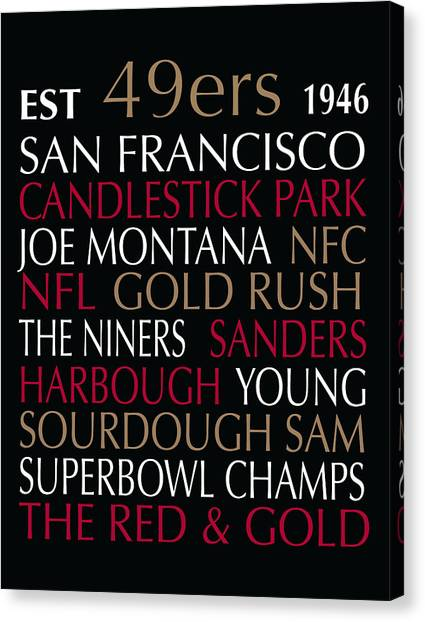San Francisco 49ers Canvas Print