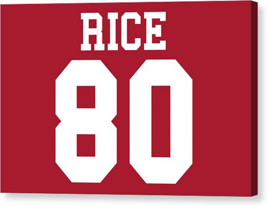 Jerry Rice Canvas Print - San Francisco 49ers Jerry Rice by Joe Hamilton