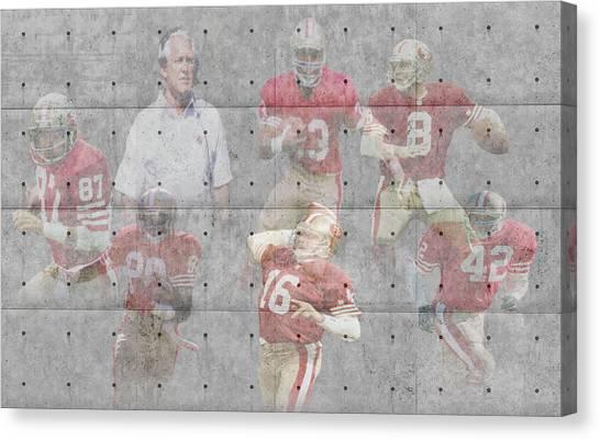 San Francisco 49ers Canvas Print - San Francisco 49ers Legends by Joe Hamilton