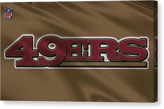 San Francisco 49ers Canvas Print - San Francisco 49ers Uniform by Joe Hamilton